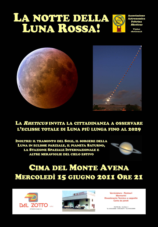 Cielo Rosso Di Notte.La Notte Della Luna Rossa Rheticus
