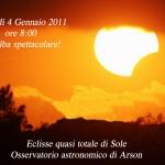 Spettacolare alba presso l'osservatorio di Arson (Feltre) in compagnia dell'associazione Rheticus.